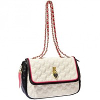 Betsey Johnson Cream Be My Everything Flapover Shoulder Bag