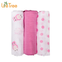 3Pcs Set 70*70cm Muslin Cloth Cotton Newborn Baby Swaddles Baby Blankets Double Layer Gauze Bath Towel Hold Wraps