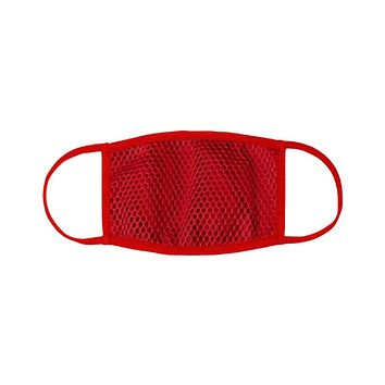 Red Netted Face Mask with Filter