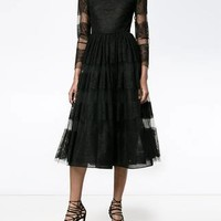 Valentino Sheer Lace Dress - Farfetch
