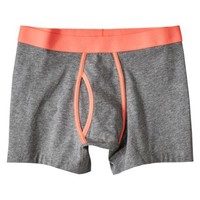Mossimo Supply Co. Men's 1pk Boxer Briefs - Grey with Assorted Neon Bands