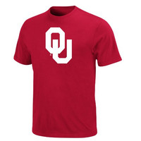 NCAA University of Oklahoma Men's Perfect Movements Short Sleeve Tee, Bright Cardinal, Small