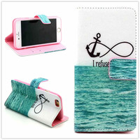 Infinite Print Leather Case Cover Wallet for iPhone