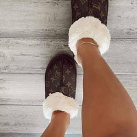 UGG x LV Louis vuitton Monogram Slippers Boots Shoes