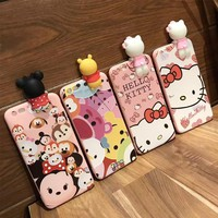 For iphone 6 6s 6plus Cute Toy story cartoon phone Cases For iphone 7 7Plus 8 8plus Hello Kitty / minnie soft silicon back cover