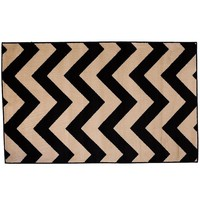 Infinity Home Dulcet Chevron Rug (Black)