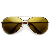 Premium Full Metal Flash Mirror Lens Aviator Sunglasses 1492