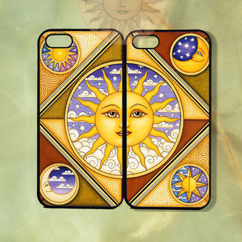 Sun May Couple Case-iPhone 5 case, iphone 4scase, 4 case,ipod touch 5  Samsung GS3-Silicone Rubber or Hard Plastic Case, Phone cover
