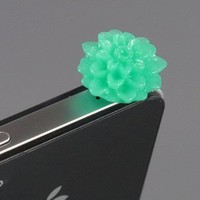 Green Flower Earphone Jack Accessory Plug
