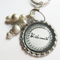 Bridal Party Gift, Bridesmaid Gifts, Personalized Keychain