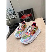 Versace Fluo Barocco Print Chain Reaction Trainers Sneakers