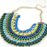 New Arrival Gift Shiny Jewelry Stylish Bohemia Handcrafts Water Droplets Necklace [6586264007]