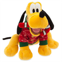 """Disney Store Share the Magic Pluto Holiday 11"""" Plush New with Tags"""