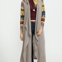 Take Control Tribal Duster Sweater
