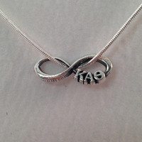 Kappa Alpha Theta Sterling Silver Infinity Letter Charm and Chain - Hand Made