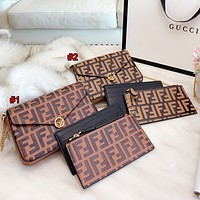 Hipgirls Fendi Fashion New Women's Printed Letter Retro Three-Piece Crossbody Bag