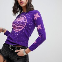Anna Sui Rising Sun Long Sleeve T-shirt at asos.com