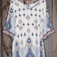 Cupshe Grin and Flare It Printing Casual Dress