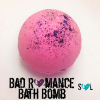 Bad Romance Bath Bomb with Black Center, Valentine's Day Bath Bomb, Anti-Valentine Bath Bomb, Pink and Black, Anti-Valentine Bath Fizzy