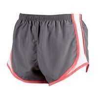Boxercraft Running Short Gray with White and Coral Pink Velocity , Adult Sizes