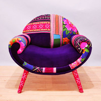 Smiley Patchwork armchair :)