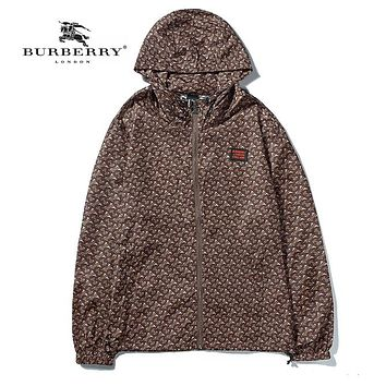 BURBERRY Hooded Zipper Cardigan Sweatshirt Jacket Coat Windbreaker Sportswear