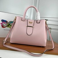 prada women leather shoulder bags satchel tote bag handbag shopping leather tote crossbody 341