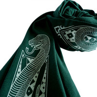 Clever Serpent Scarf Harry Potter Slytherin by binarywinter