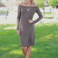 Falling For You Dress - Olive
