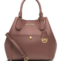Greenwich Bicolor Large Grab Bag, Cinder/Dusty Rose - MICHAEL Michael Kors