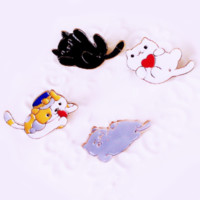 Cuddly Kitty Pins