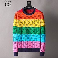 GG Top Quality Color Double G Round Neck Long Sleeve Sweater