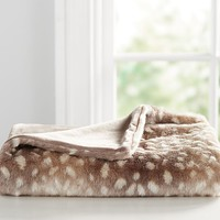 Fawn Faux-Fur Baby Blanket