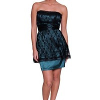 Beautifly Women's Sexy Strapless Lace and Satin Cocktail Dress