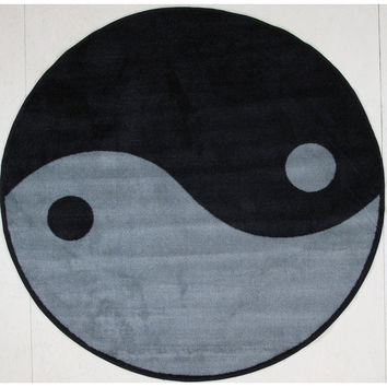 Fun Rugs Fun Time Shape Collection Ying Yang Area Rug