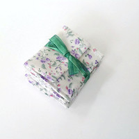 Lavender Field of Flowers Teeny Pocket Jewelry Pouch Set of Six Party Favors