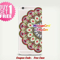 Mandala Clear Phone Case Cover , Crystal Clear iPhone 6 6s Case , Custom Clear iPhone 6 6s Case , Cool iPhone Case , Transparent iPhone Case