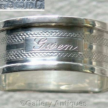 Art Deco 925 Sterling Solid Silver Napkin / Serviette Ring by Henry Griffith & Sons Ltd, Hallmarked for Birmingham, 1935 (ref: 3161)