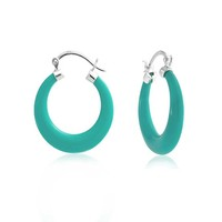 Bling Jewelry Ageless Turq Hoops
