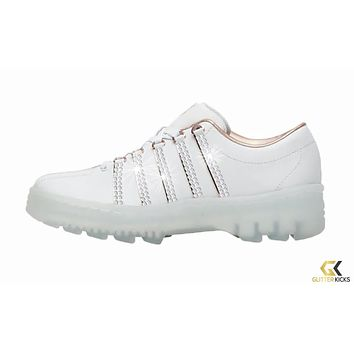 K-Swiss North Classic + Crystals - White/Rose Gold   LE / Rose Gold Pack