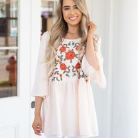 Sweet Love Embroidered Tunic
