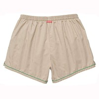 The Hackett Short in Khaki with Green by Southern Proper