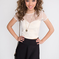 Lucielle Crop Top - Ivory