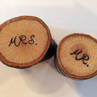 Personalized Jewelry Box , Wood Ring Box , MR. and Mrs. Couple Jewelry Box , Wedding Ring Box , Ring Bearer