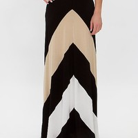Women's Versatile Maxi Skirt in Black/Cream by Daytrip.
