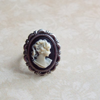Antique Cameo Adjustable Ring Cameo Jewelry