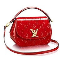 Authentic Louis Vuitton Monogram Vernis Pasadena Cross Body Handbag Article: M90944 Cherry Made in France
