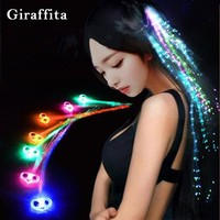 Luminous Headwear Dancing LED Hairpin For Party Flash Hairgrips Glow Blinking Hair Clip Christmas Halloween Party Accessories