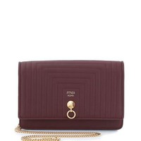 Fendi Dotcom Quilted Tube Wallet on a Chain Bag