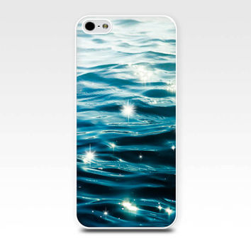 nautical iphone case 5s iphone 4s case water iphone case beach ocean iphone case blue teal iphone 4 case 5 fine art iphone sparkle water